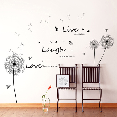 Live Laugh Love Dandelions Wall Decal