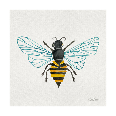 Honey Bee Giclee Print by Cat Coquillette