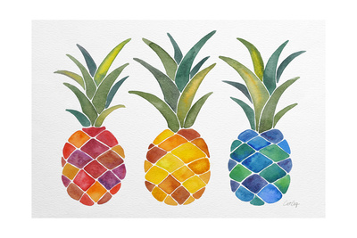 Pineapples Giclee Print by Cat Coquillette