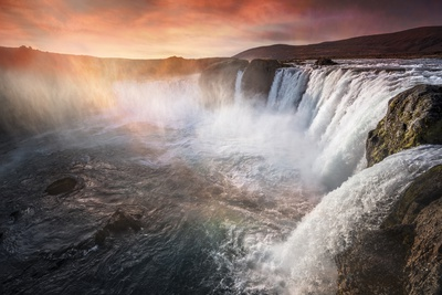 The waterfall of the gods, Iceland Stampa fotografica di Marco Carmassi