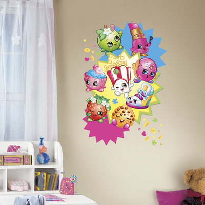Shopkins Burst Peel And Stick Giant Wall Decals Wall Decal
