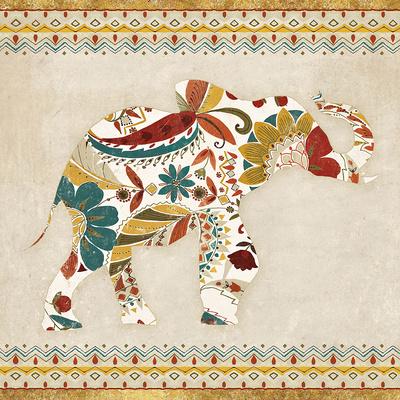 Boho Elephant I Art by  Wild Apple Portfolio