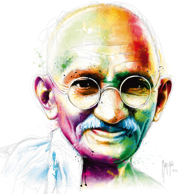 Gandhi - I am Love Giclee Print by Patrice Murciano