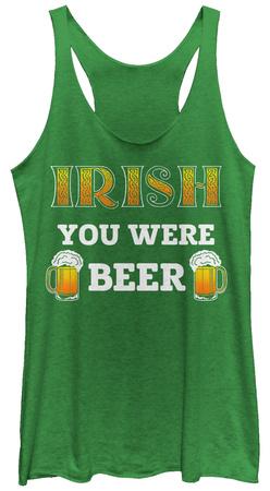 Juniors Tank Top: Irish You Were Beer Womens Tank Tops