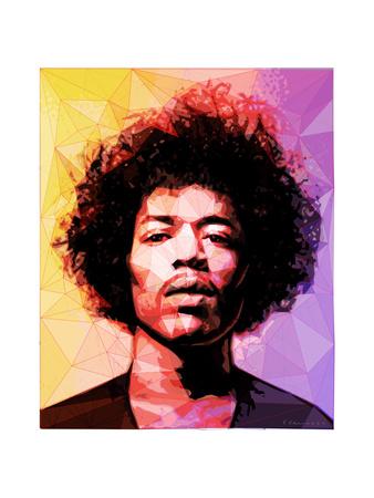 Jimi Hendrix Posters van Enrico Varrasso