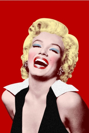 Marilyn Monroe- Big Smile In Red Prints