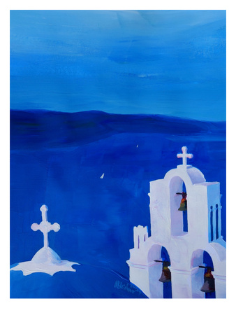 Enchanting Santorini Greece View Posters by M Bleichner