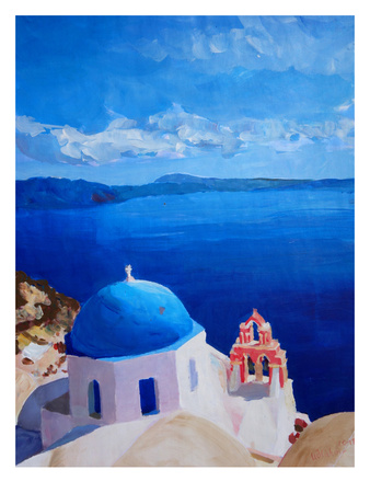 Santorini Iii Oia2 Posters by M Bleichner
