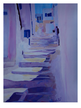 Enchanting Mykonos Greek Islands Stairs Posters by M Bleichner