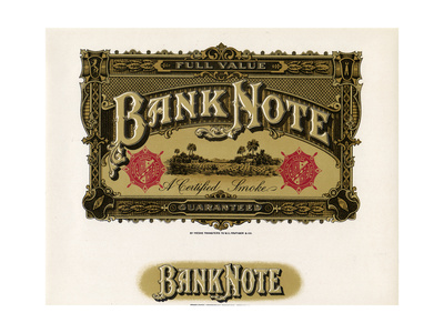 Bank Note Giclee Print by  Art Of The Cigar
