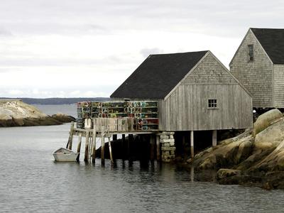 Peggy's Cove, NS Fotografisk tryk af J.D. Mcfarlan