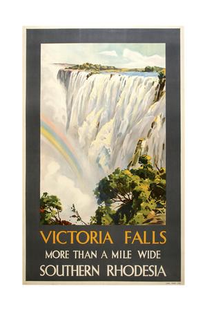 Victoria Falls Giclée-tryk af Marcus Jules