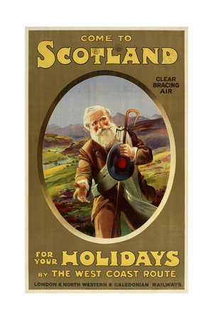 Come to Scotland Giclee Print by Marcus Jules