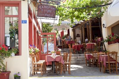 Cafe, Restaurant, Taverna, Plaka, Athens, Greece Photographic Print by Peter Adams