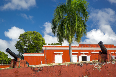 Fort Frederik in Frederiksted, St. Croix, Us Virgin Islands Photographic Print by Brian Jannsen