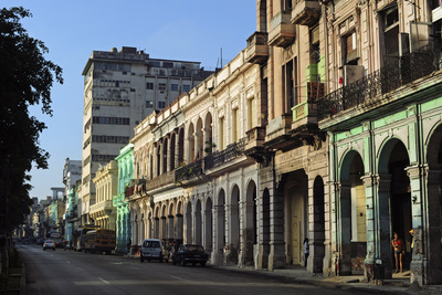 Cuba, La Havana, Havana Vieja, Old Colonial Buildings Photographic Print by Anthony Asael
