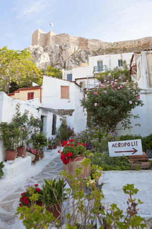 Houses Below Acropolis, Athens, Greece Photographic Print by Peter Adams