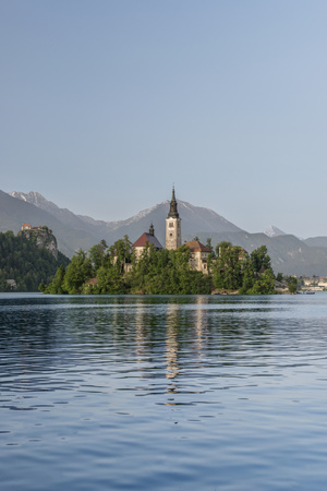 Slovenia, Bled, Bled Island Photographic Print by Rob Tilley