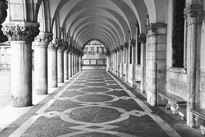 Italy, Venice. Columns at Doge's Palace Photographic Print by Dennis Flaherty
