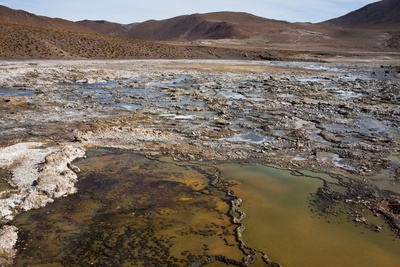 Chile, Andes Mountains, Atacama Desert, El Tatio Geysers. Fumaroles Photographic Print by Mallorie Ostrowitz