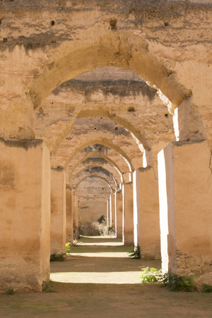 Meknes, Morocco, Hri Souani Former Horse Stalls in Downtown Photo by Bill Bachmann