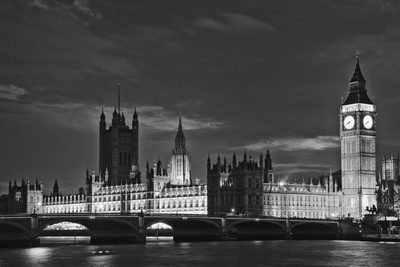 Great Britain, London. Dusk on Big Ben and the Houses of Parliament Photo by Dennis Flaherty