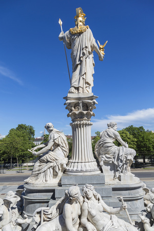 Statues in Front of Parliament Building, Vienna, Austria Photo by Peter Adams