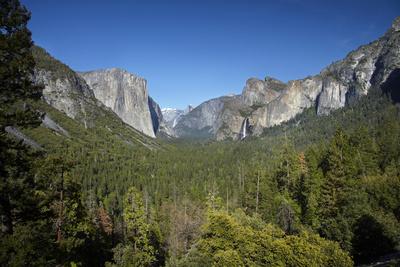 El Capitan, Half Dome, and Bridalveil Fall, Yosemite NP, California Photo by David Wall