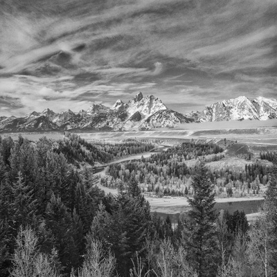 USA, Wyoming, Grand Teton National Park, Snake River Overview Photo by John Ford