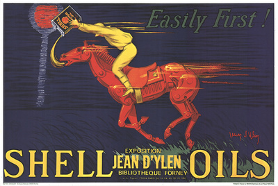 Shell Oils-Easily First! Collectable Print by Jean D'Ylen