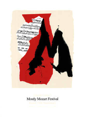 Mostly Mozart Festival Serigraph by Robert Motherwell