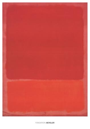 Red (Orange) Posters van Mark Rothko