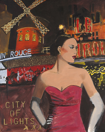 Chic Soir I Giclee Print by Juliette McGill