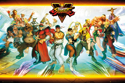 Street Fighter 5- Deadly Characters Poster
