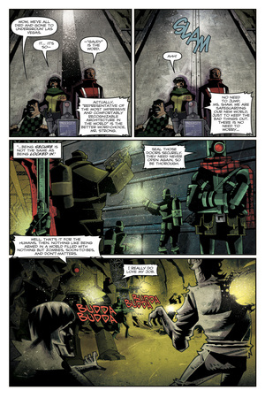 Zombies vs. Robots: Undercity - Comic Page with Panels Art by Mark Torres