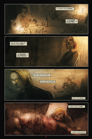 30 Days of Night: Eben & Stella – Comic Page with Panels Print by Justin Randall