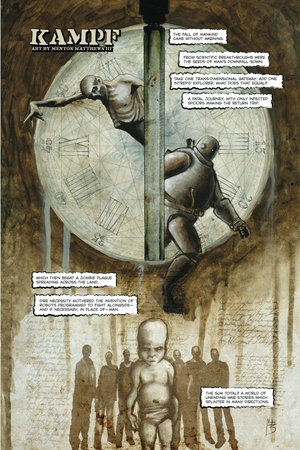 Zombies vs. Robots - Full-Page Art Poster by Menton Matthews III