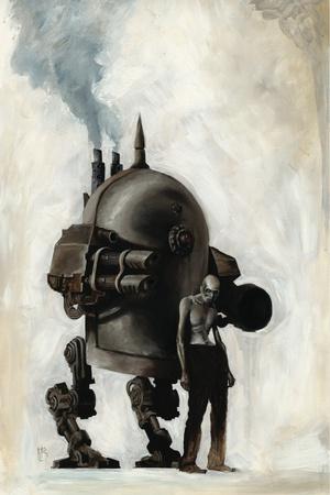 Zombies vs. Robots - Cover Art Prints by Menton Matthews III