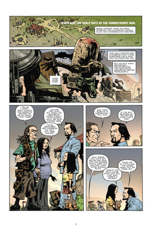 Zombies vs. Robots: No. 7 - Comic Page with Panels Poster by Paul Davidson