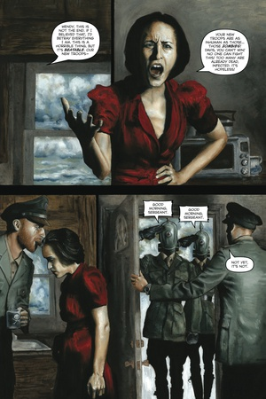 Zombies vs. Robots - Comic Page with Panels Art by Menton Matthews III