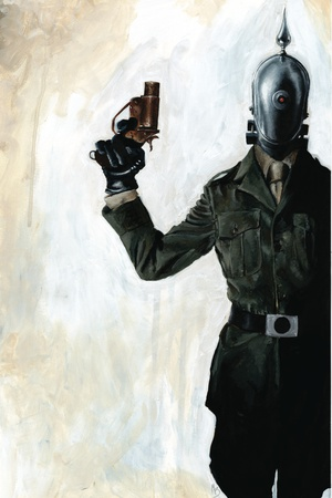 Zombies vs. Robots - Cover Art Poster by Menton Matthews III
