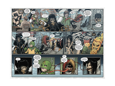 Locke and Key: Volume 5 - Page Spread with Panels Print by Gabriel Rodriguez