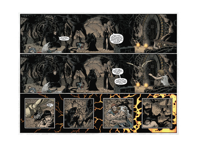 Locke and Key: Volume 5 - Page Spread with Panels Prints by Gabriel Rodriguez