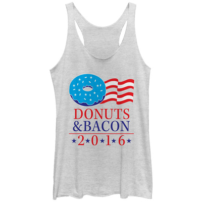 Juniors Tank Top: Donut & Bacon Ticket 16 Womens Tank Tops