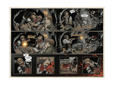 Locke and Key: Volume 5 - Page Spread with Panels Posters by Gabriel Rodriguez