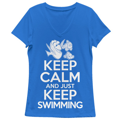 Juniors: Finding Dory- Keep Calm & Swim On T-Shirts