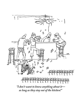 """""""I don't want to know anything about itas long as they stay out of the ki"""" - New Yorker Cartoon Giclee Print by George Booth"""