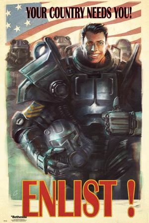 Fallout 4- Enlist plakat