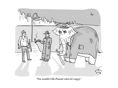 """""""You wouldn't like Peanuts when he's angry."""" - New Yorker Cartoon Giclee Print by Farley Katz"""