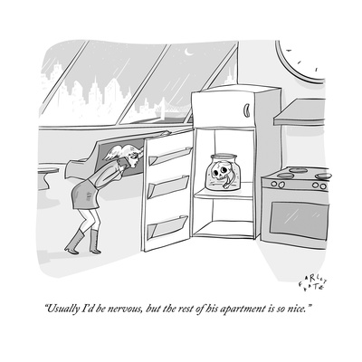 """""""Usually I'd be nervous, but the rest of his apartment is so nice."""" - New Yorker Cartoon Giclee Print by Farley Katz"""